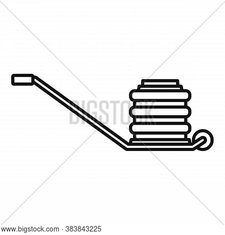 Pneumatic Jack-screw Icon. Outline Pneumatic Jack-screw Vector Icon For Web Design Isolated On White