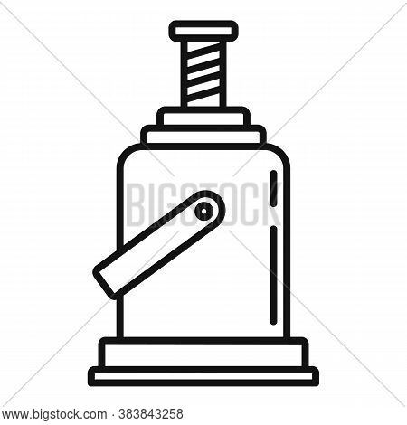 Industry Jack-screw Icon. Outline Industry Jack-screw Vector Icon For Web Design Isolated On White B