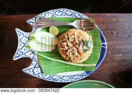 Fried Rice Or Stir Fried Rice With Fish And Vegetable