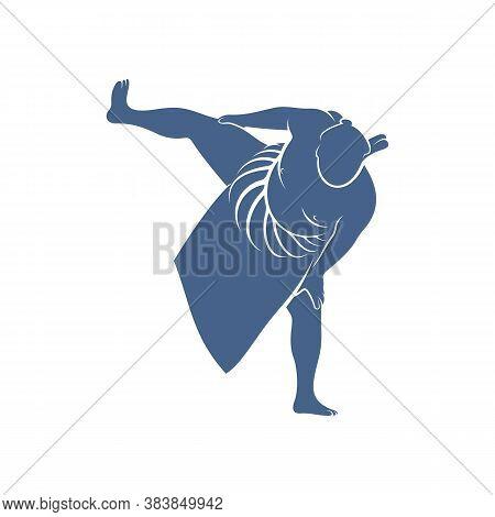 Sumo Fighter Logo Design Template, Vector Graphics To Design
