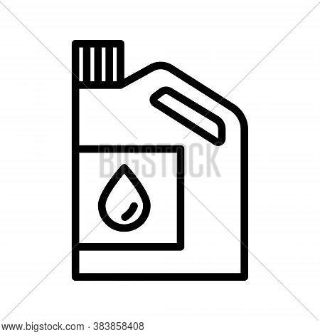 Motor Oil Bottle Icon. Outline Car Oil Canister Vector Icon For Web Design Isolated On White Backgro