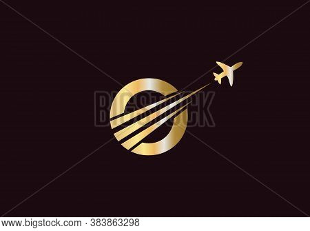 Minimal Air Travel Logo Design With O Letter. Letter O Air Travel Logo Design Template.