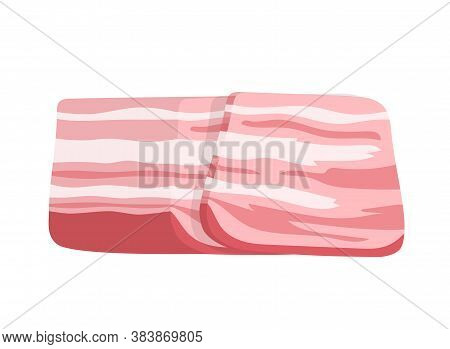 Brisket Slice. Isolated On White Background. Vector Flat Color Icon.