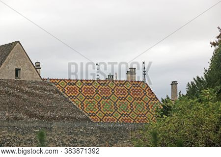 City Walls And Roof Of Beaune, France