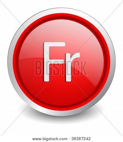 Frank red button - design web icon