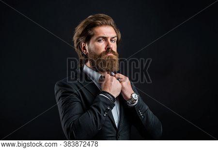 Representation Modern Successful Man Business Career, Wedding Day Concept