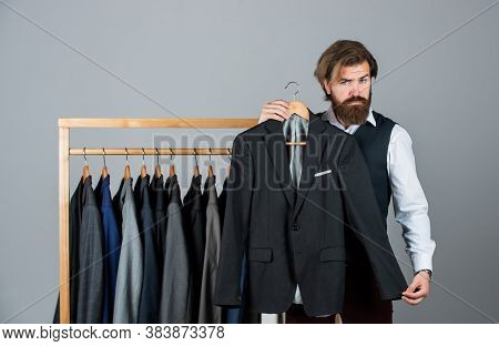 The Future Of Fashion. Male Fashion Designer. Individual Measures Hand Of Man. Man Ordering Business