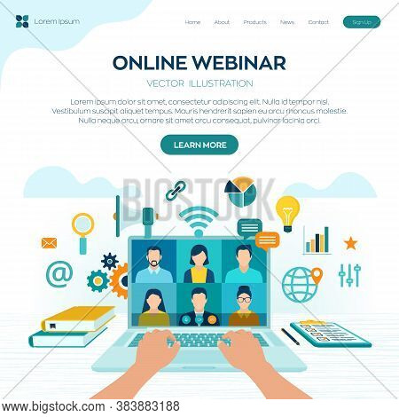 Webinar. Internet Conference. Web Based Seminar. Distance Learning. E-learning Training Business Con
