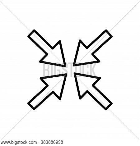 Exit Fullscreen, Minimize, Shrink Icon Glyph Style For Your Web Design, Logo, Ui. Illustration