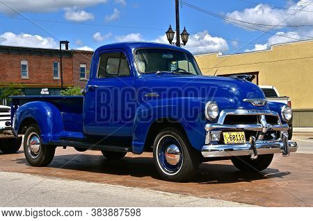 Park Rapids,  Minnesota, July 29, 2020: The 1954 Pickup Is A Chevrolet, Colloquially Referred To As