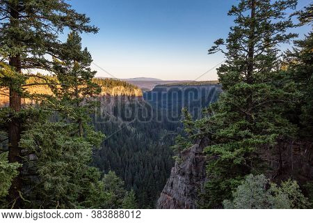 Beautiful View Of Canadian Nature Landscape During A Sunny Summer Sunset. Taken In Chasm, British Co