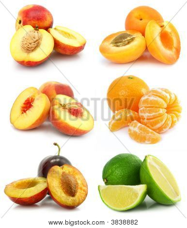 Collection Of Ripe Fruit Isolated
