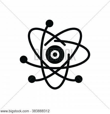 Black Solid Icon For React Chemistry Circle Fusion Atom Atomic Nuclear