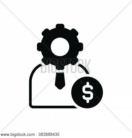 Black Solid Icon For Management Head Executives Execs Directors Workforce Facility