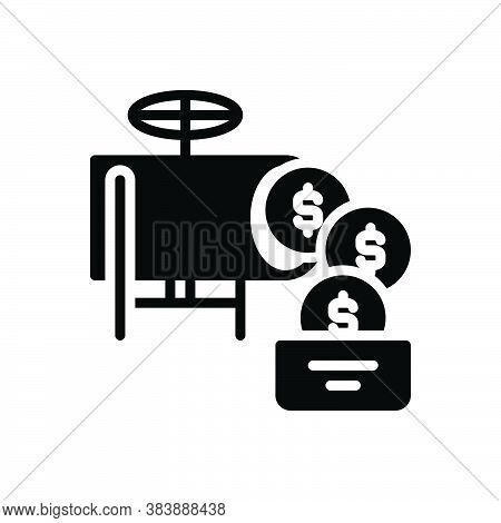 Black Solid Icon For Money-flow Money Flow Cash Revenues Income Investment Profit Currency Finance