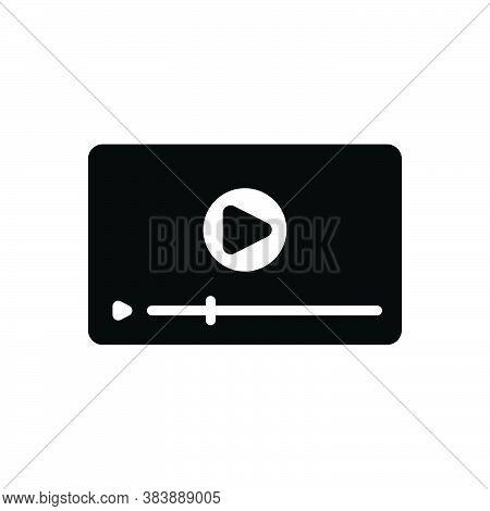 Black Solid Icon For Video Technology Play Ad-viedo Ad Viedo Marketing  Advertisement Videoblog Onli
