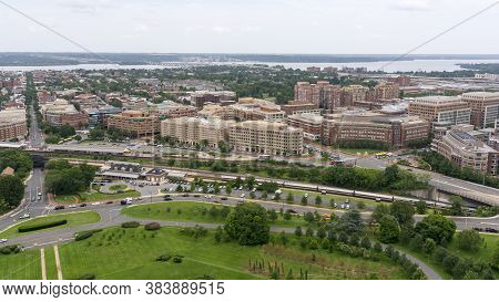 The Skyline Of Alexandria, Virginia, Usa And Surrounding Areas As Seen From The Top Of The George Wa
