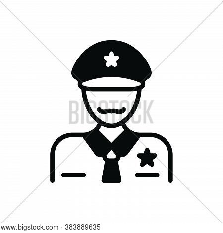 Black Solid Icon For Officer Commissary Bureaucrat Magistrate Gentleman Officeholder Dignitary