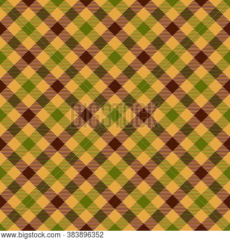 Autumn Tartan Seamless Pattern Background