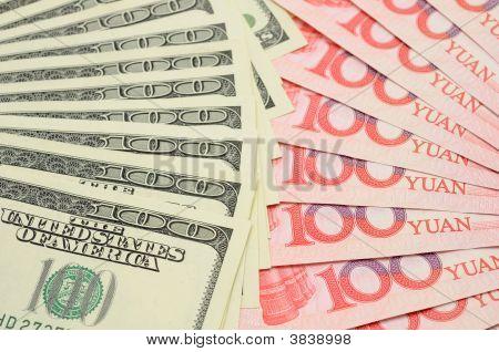 Fanned Us Dollar And China Yuan