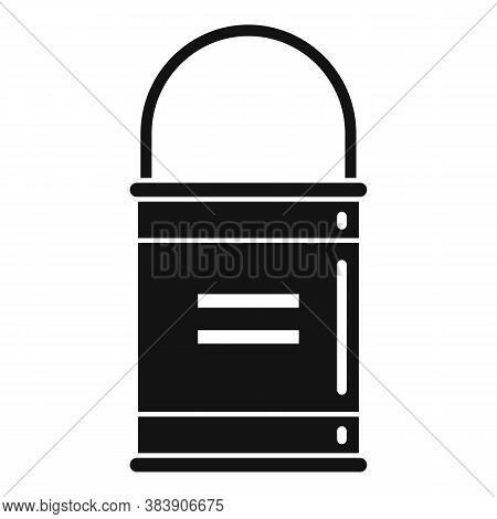 Tiler Glue Bucket Icon. Simple Illustration Of Tiler Glue Bucket Vector Icon For Web Design Isolated