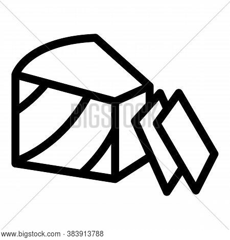 Cheese Portion Icon. Outline Cheese Portion Vector Icon For Web Design Isolated On White Background