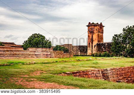 Hampi Ruins Antique Stone Art From Unique Angle With Amazing Sky Image Is Taken At Hampi Karnataka I