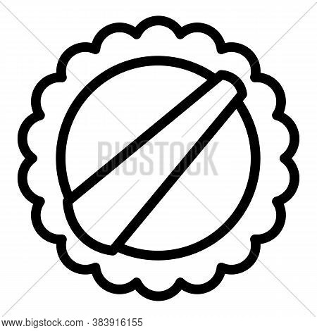 Round Washcloth Icon. Outline Round Washcloth Vector Icon For Web Design Isolated On White Backgroun