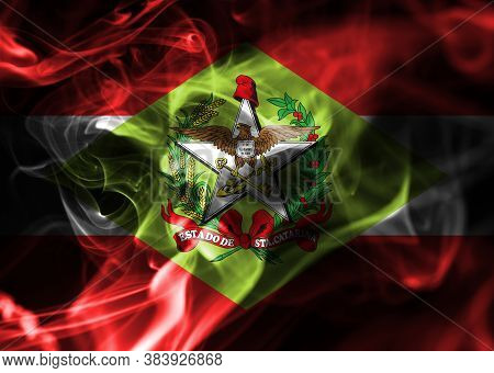 Santa Catarina Smoke Flag, State In Southern Brazil