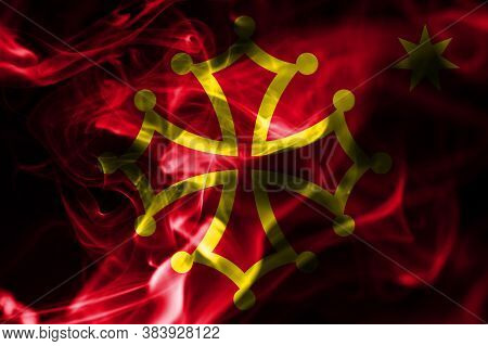Occitania Smoke Flag, Dependent Territory Flag National Flag Of Smoke