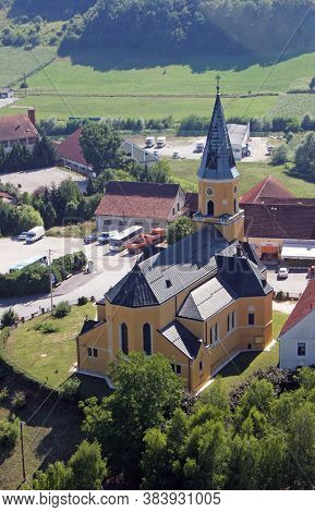 Saint George Parish Church in Desinic, Croatia