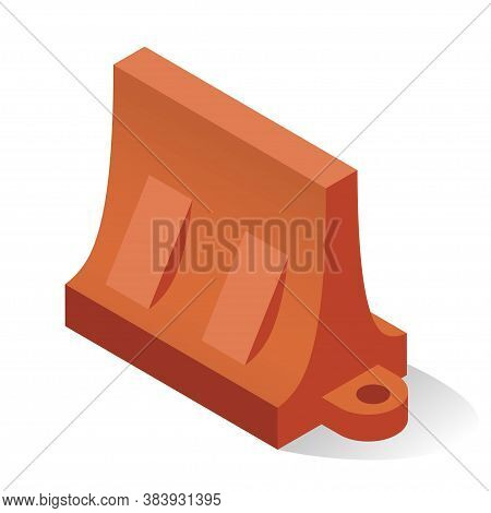 Road Barrier Plastic Equipment To Separate Lanes Of Vehicular Motion And Protect Vulnerable Areas.