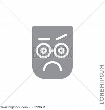Thinking Face Emoji Icon. Style Sign For Mobile Concept And Web Design. Emoji Pondering Face Simple