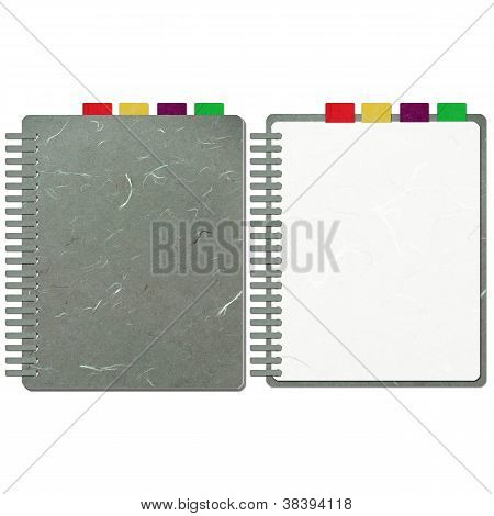 Rice Paper Cut Grey Blank Note Book