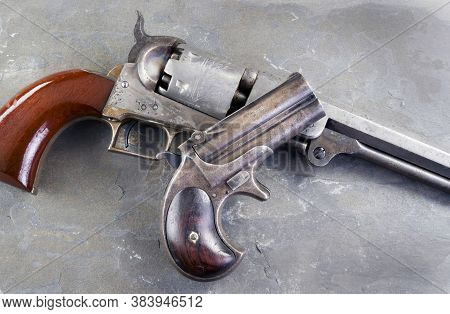 Antique Wild Wild West Pistols Made Around 1866.