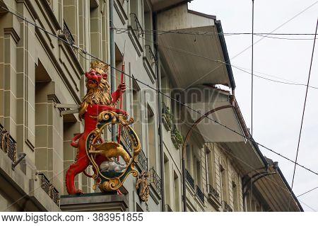 Bern, Switzerland-october 23,2019:the Logo Icon Is Beautiful In The City At Bern,switzerland