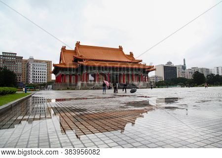 Taipei, Taiwan - October 12, 2018: The National Theater And National Concert Hall At Chiang Kai Shek