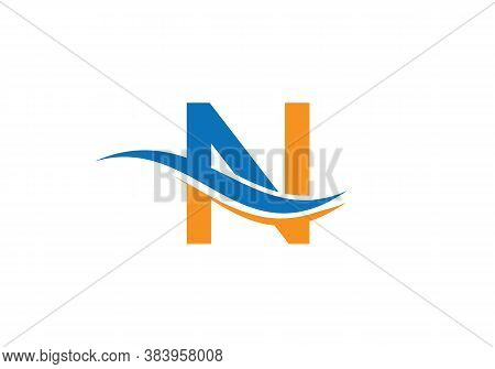 Initial N Letters Logo Modern Trendy. N Logo Design For Business Corporate Sign