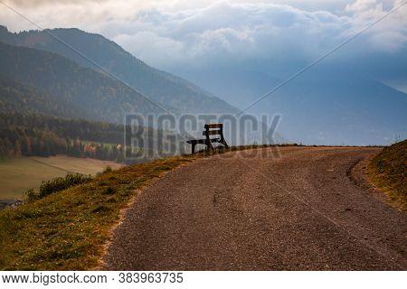 autumn landscape in Alpe de Siusi  Sud Tyrol  Italy