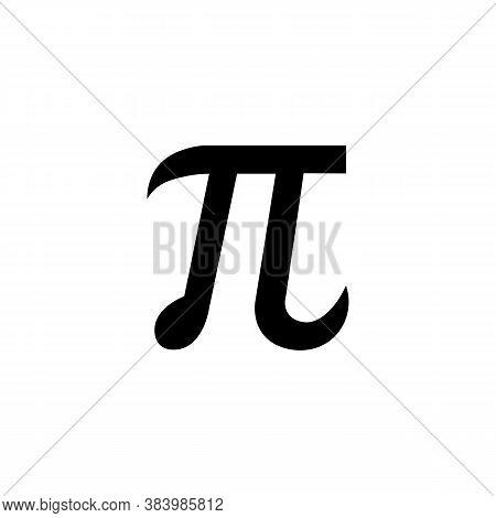 Math Sign Pi Icon. Vector Illustration Eps 10
