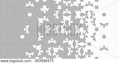Arabic Iranian Vector Seamless Pattern. Geometric Arabic Halftone Texture Pattern Background With Co