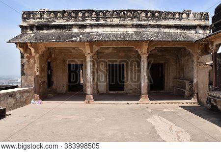 Gwalior, Madhya Pradesh/india : March 15, 2020 - Karan Palace In Gwalior Fort