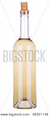 white wine and a bottle isolated