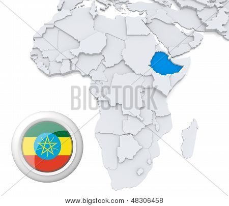Ethiopia On Africa Map