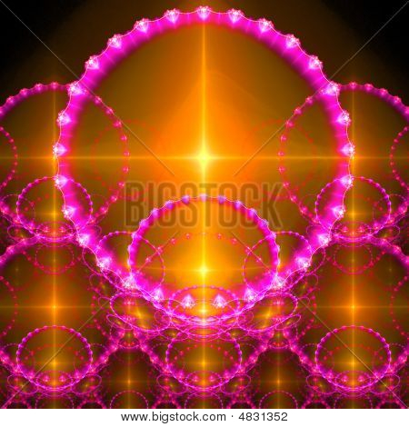 Abstract background. Orange - purple palette. Raster fractal graphics. poster
