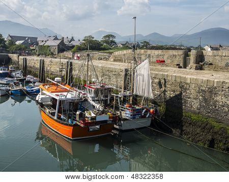 The Port Of Annalong In Ireland