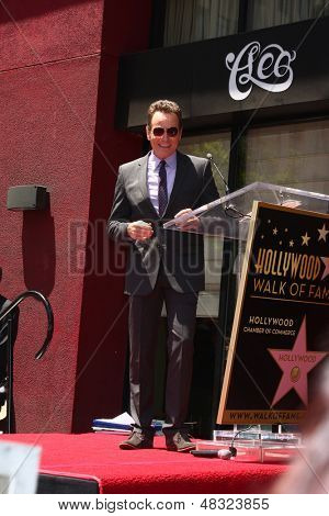 LOS ANGELES - JUL 16:  Bryan Cranston at the Hollywood Walk of Fame Star Ceremony for Bryan Cranston at the Redbury Hotel on July 16, 2013 in Los Angeles, CA