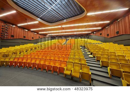 MOSCOW - AUG 20: Congress-hall of Moscow School of Management SKOLKOVO - russian analog of Silicon Valley, August 20, 2012, Moscow, Russia. Hall capacity is 660 seats.