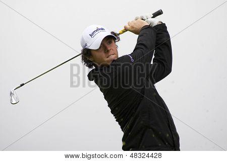 LOCH LOMOND, SCOTLAND - JUL 12 2009; Loch Lomond Scotland; Rory Mcilroy (GBR) competing in the final round of the PGA European Tour Barclays Scottish Open golf tournament.