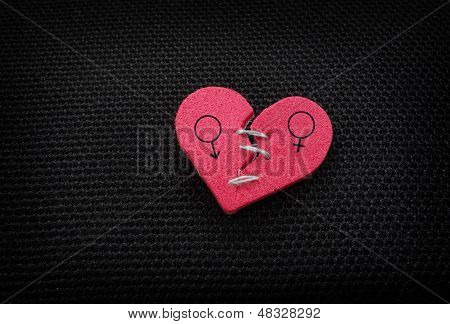 Red Relationship Heart
